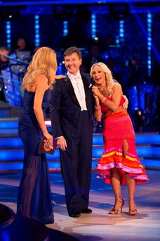 Daniel O'Donnell, Kristina Rihanoff and presenter Tess Daly