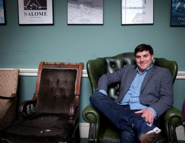 Class act: Peter Coonan backstage at the Gate Theatre