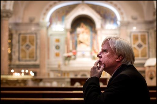Brennan's brief: Francis Brennan says he's terrified of being portrayed as a Holy Joe and just wants everyone to be happy and kind to each other. Photo: David Conachy.