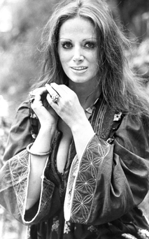 Massive success: Jackie Collins, pictured in 1974, has died aged 77 after a battle with breast cancer