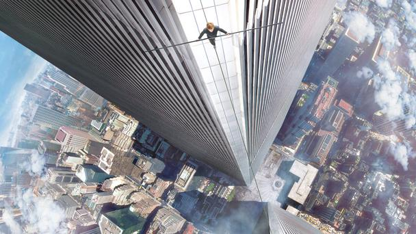 Head for heights: Even watching the Joseph Gordon-Levitt movie is a balancing act.