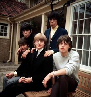 The original Rolling Stones, including Brian Jones.