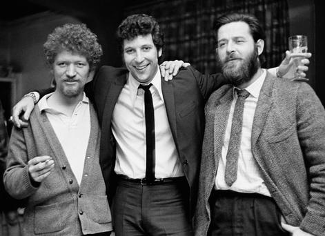 Tom Jones with Luke Kelly, left, and Ciaran Bourke