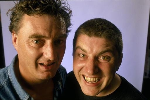 D'Unbelievables - Jon Kenny and Pat Shortt (left). Photo: RTE Stills Library