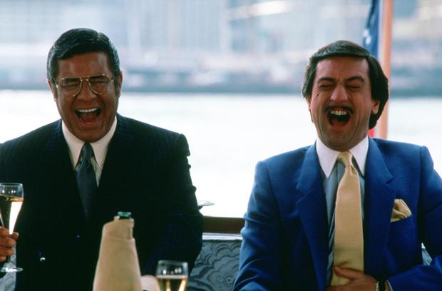 Funny guy: Jerry Lewis with Robert De Niro in King of Comedy.