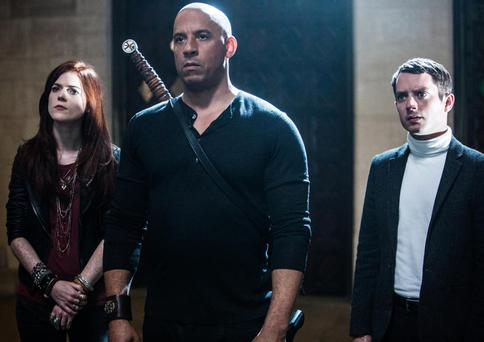 On the case: Rose Leslie, Vin Diesel and Elijah Wood in the Last Witch Hunter