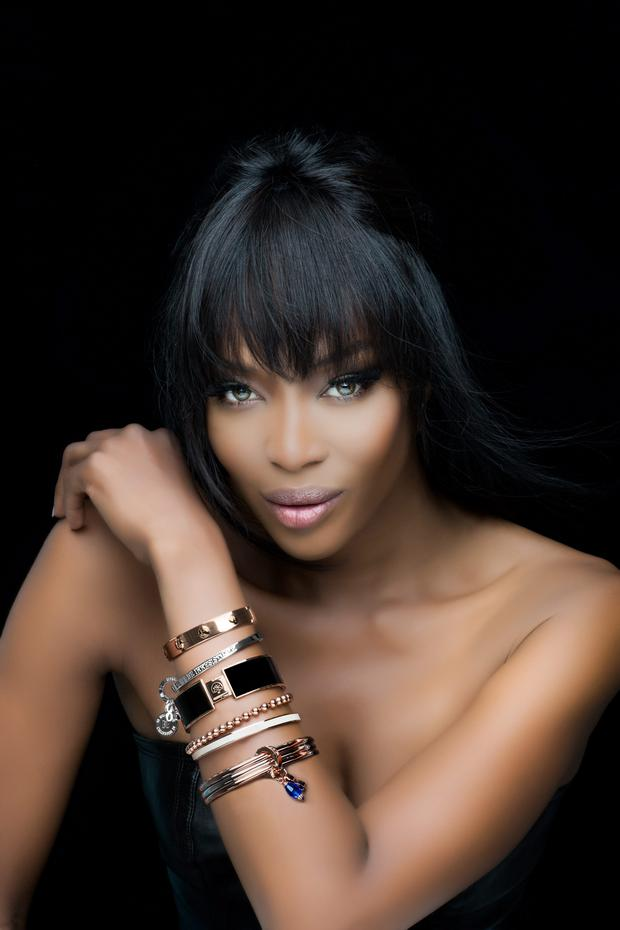Naomi Campbell: the new face of Newbridge Silverware for the next two years. Photo: Barry McCall