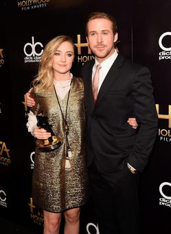 What's in a name: Saoirse Ronan with Ryan Gosling at the Hollywood Film Awards