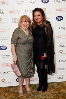 Norah Casey and her mother Mags at the Women of the Year Awards, Dublin