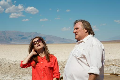 Oh là là: Isabelle Huppert and Gerard Depardieu in Valley of Love, showing at the IFI as part of its French film festival.