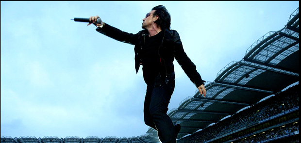 Spectacle: Bono on stage at Croke Park in 2005 as part of U2's Vertigo tour.
