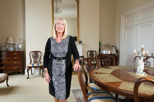 Anne Doyle in her four-storey Georgian house. Photo: Tony Gavin