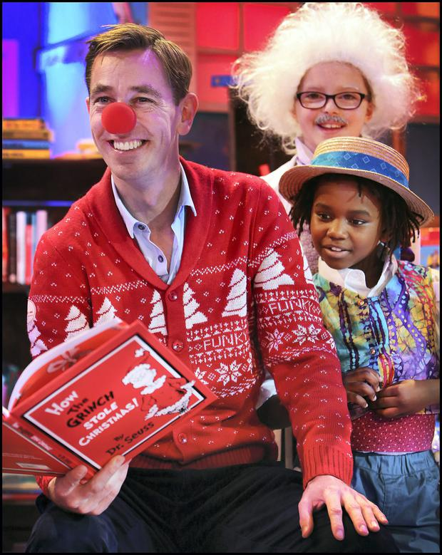Ryan Tubridy enjoying the Late Late Toy Show