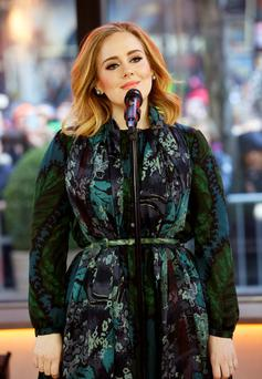 Adele performs on the US show 'Today' to promote her latest release '25'