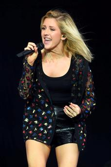 Mellow: Ellie Goulding still likes to keep in touch with her friends back on the council estate where she grew up.