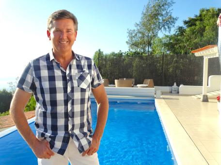 Fruits of success: Daniel O'Donnell at his and Majella's luxurious retreat in sun-kissed Tenerife.
