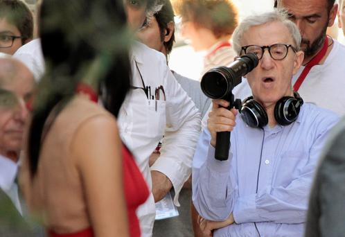 Screenwriting genius: Woody Allen filming To Rome With Love in 2011
