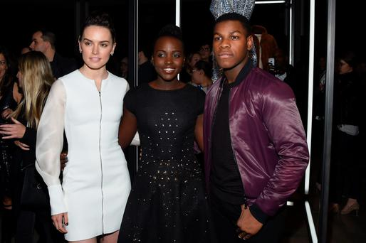 Stars in the ascendancy: Daisy Ridley, Lupita Nyong'o and John Boyega