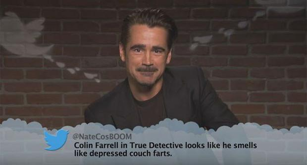 Colin Farrell reads out mean Tweets written about himself on Jimmy Kimmel Live