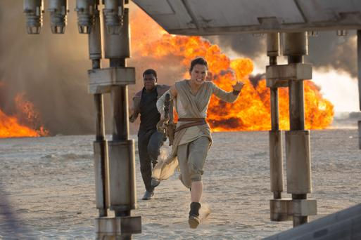 A new hope: Newcomers John Boyega and Daisy Ridley star in 'The Force Awakens'