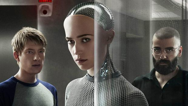 Domhnall Gleeson and Alicia Vikander in Ex-Machina.