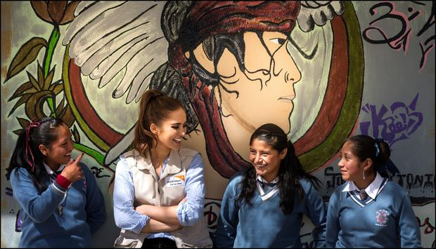 'Our families don't really see the need for us to have an education, and that's just something that's been passed down from generation to generation' -Teenage schoolgirls in San Miguel la Labor tell Roz that they are ready for change. Photo: Dave Conachy.