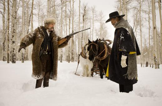 Western life: Kurt Russell and Samuel L Jackson in the Hateful Eight.