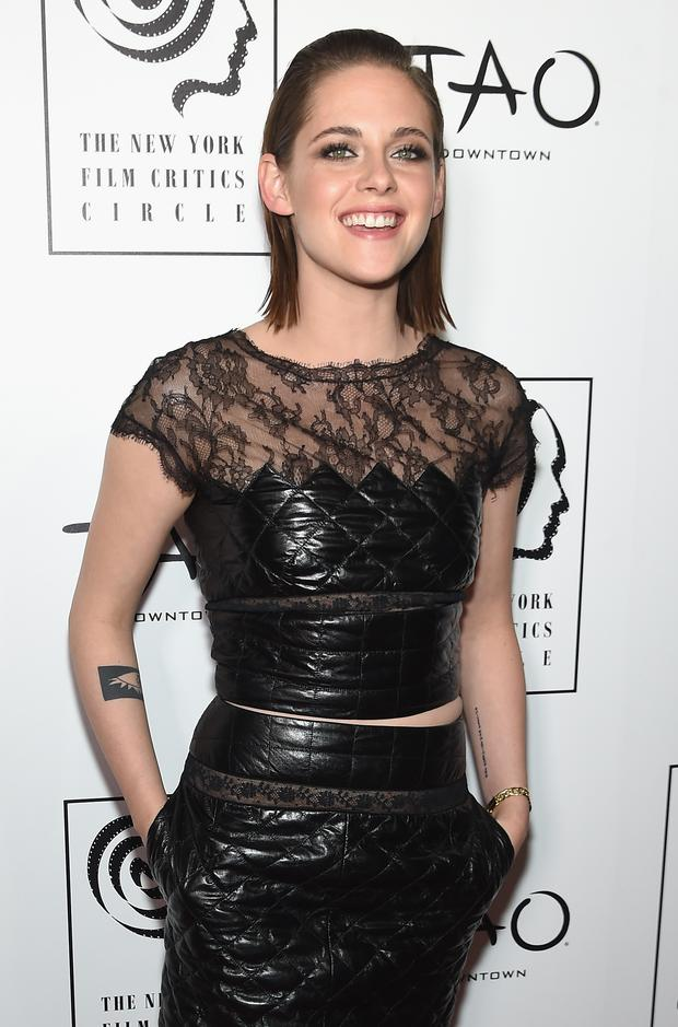 Actress Kristen Stewart attends 2015 New York Film Critics Circle Awards at TAO Downtown on January 4, 2016 in New York City. (Photo by Jamie McCarthy/Getty Images)