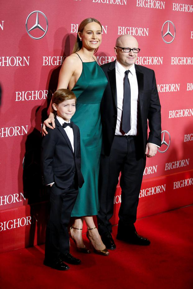 Room actor Jacob Tremblay, actress Brie Larson and director Lenny Abrahamson (Reuters)
