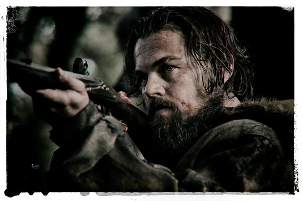 Vicious: Leonardo DiCaprio as frontier guide Hugh Glass in a scene from 'The Revenant'