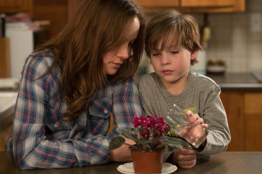Trapped: Brie Larson and Jacob Tremblay in 'Room'