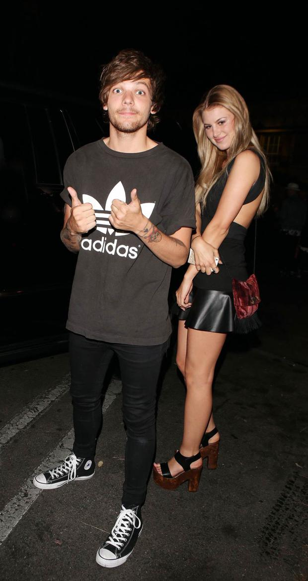 One Direction star Louis Tomlinson and Briana Jungwirth who gave birth to his first son yesterday