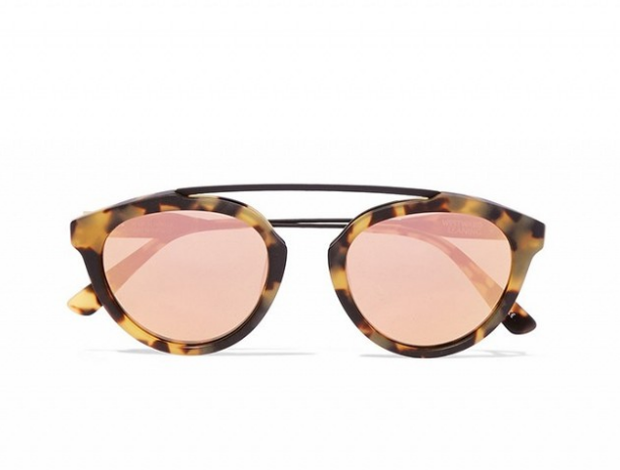 e22536752 Olivia Palermo x Westward Leaning Flower 13 Aviator-Style Acetate Mirrored  (€265)