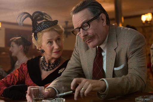 Show must go on: Helen Mirren as Hedda Hopper and Bryan Cranston as talented scriptwriter, Dalton Trumbo, who paid for his political beliefs during the McCarthy witch-hunt.
