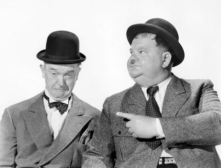 Forgotten stars: Stan Laurel and Oliver Hardy.