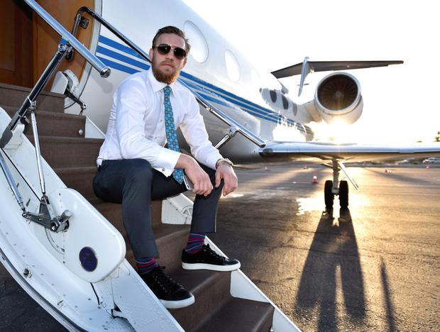 Like a movie star, McGregor was travelling in style during the UFC World Championship press tour last March.