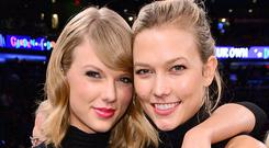 Karlie with squad member Taylor Swift.