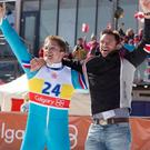 Twisted truth: Taron Egerton and Hugh Jackman star in 'Eddie the Eagle'.