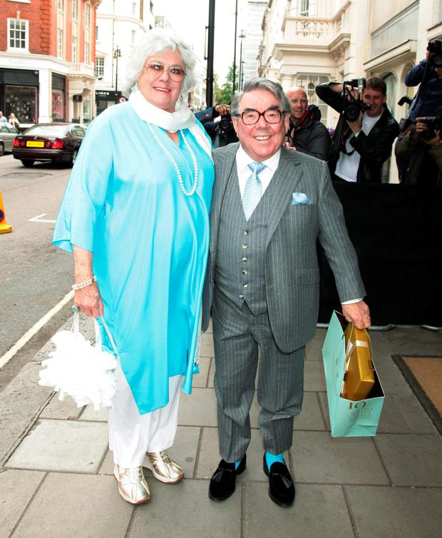 Ronnie Corbett with his wife Anne Hart. Photo: PA