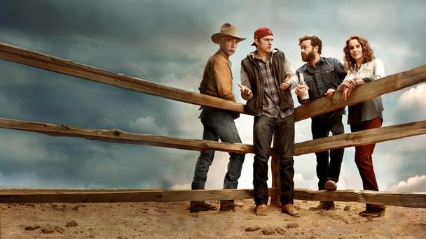 The Ranch stars Sam Elliott, Ashton Kutcher, Danny Masterson and Debra Winger.
