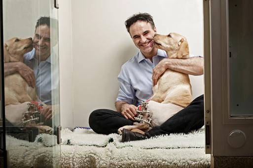'Supervet' Noel Fitzpatrick sometimes sleeps in his surgery.