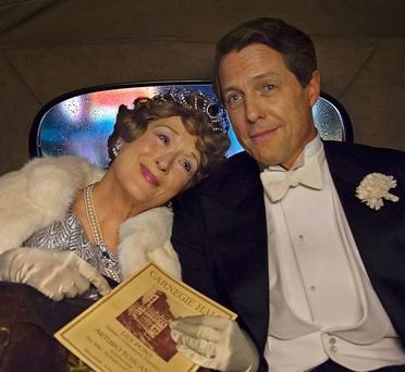 Pitch imperfect: Meryl Streep as Florence Foster Jenkins, with Hugh Grant as her boyfriend, St Clair Bayfield.