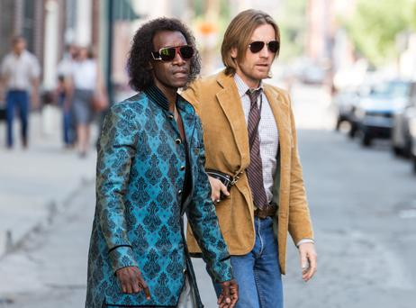 Clumsy: Don Cheadle and Ewan McGregor star in the Cheadle-directed Miles Davis biopic 'Miles Ahead'