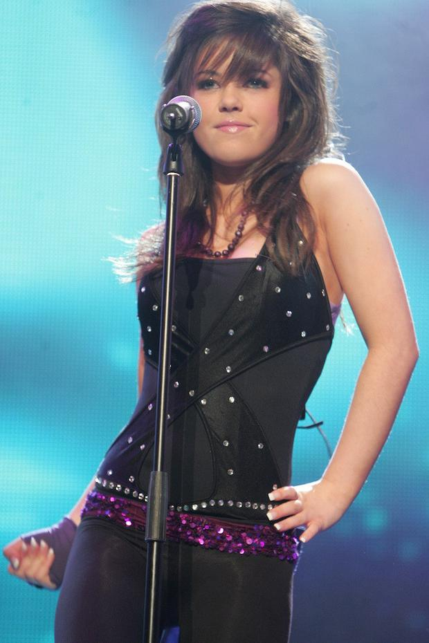 A young Bonnie Ryan performs as part of Lady Nada at Childline in 2007. Photo: Arthur Carron.