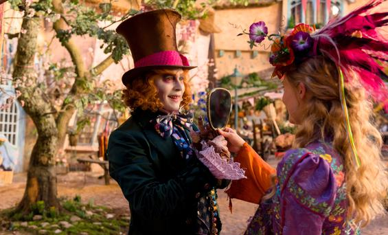 Old pals: Johnny Depp and Mia Wasikowska return for 'Through the Looking Glass'