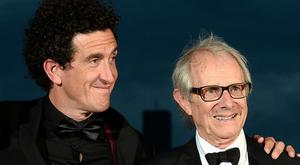 Reel deal: Ryan and director Ken Loach at Cannes