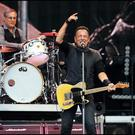 Springsteen on stage at Croke Park Photo: Steve Humphreys