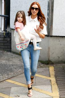 Una Healy with Aoife Belle.