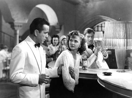 Of all the gin joints: Humphrey Bogart and Madeline Lebeau, who was the last surviving member of the cast of Casablanca.