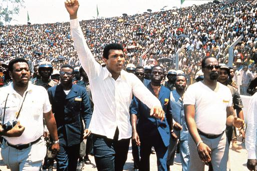 Rumble in the jungle: Muhammad Ali in the documentary When We Were Kings.